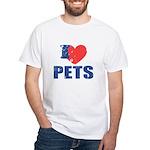 I Love Pets White T-Shirt