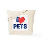 I Love Pets Tote Bag