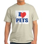 I Love Pets Light T-Shirt