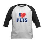 I Love Pets Kids Baseball Jersey