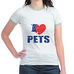 I Love Pets Jr. Ringer T-Shirt