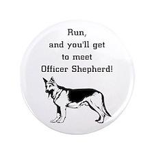 """K9 Officer Shepherd 3.5"""" Button (100 pack)"""