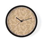 Boomerang Bold Biege Wall Clock