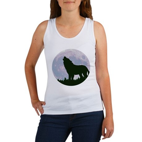 Wolf and Moon Women's Tank Top