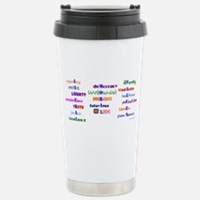 Liberal Moral Values Stainless Steel Travel Mug