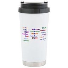 Liberal Moral Values Travel Mug