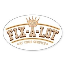 Sir Fix-A-Lot Oval Decal