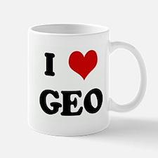 I Love GEO Mug