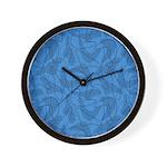Boomerang Bold Blues Wall Clock