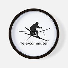 Tele-commuter Wall Clock