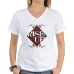 rise up Women's V-Neck T-Shirt