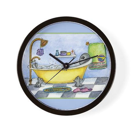 Alien in My Bathtub Wall Clock