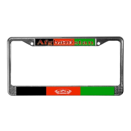 Afghan Blank Flag License Plate Frame