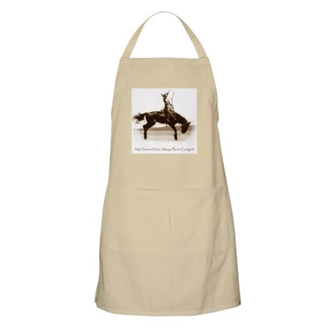 Cowgirl Hero antiqued image BBQ Apron