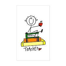 Basic Teacher Rectangle Decal