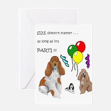 Unique Parti poodle Greeting Card