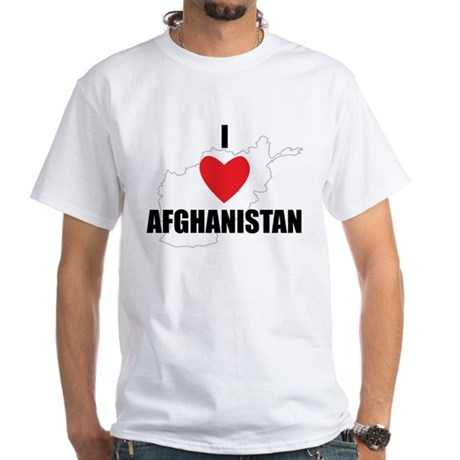 I Love Afghanistan White T-Shirt