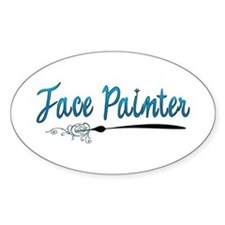 face painter! Oval Decal