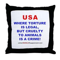 TORTURE Throw Pillow