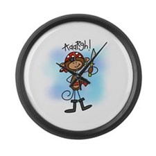 Pirate with Sword Large Wall Clock