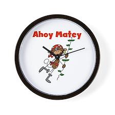 Monkey Ahoy Matey Wall Clock