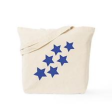 blue star rain Tote Bag