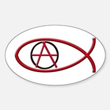 Anarchy Ichthus Oval Decal