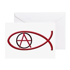 Anarchy Ichthus Greeting Card