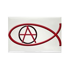 Anarchy Ichthus Rectangular Magnet