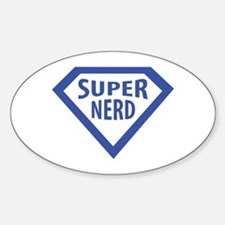 super nerd icon Oval Decal