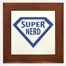 super nerd icon Framed Tile