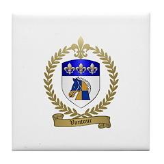 VAUTOUR Family Crest Tile Coaster