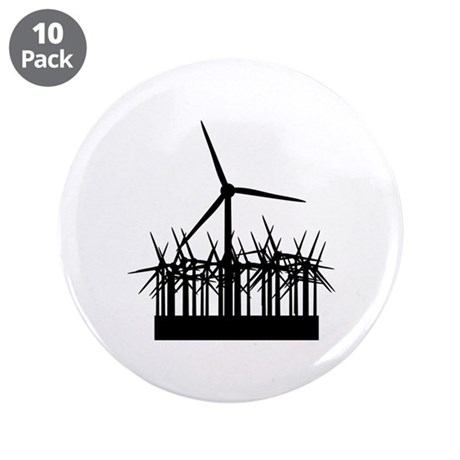 "Environment Wind Power 3.5"" Button (10 pack)"