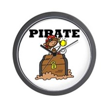 Pirate with Gold Wall Clock