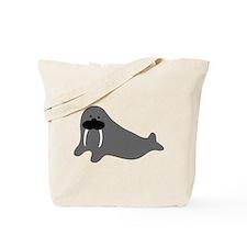comic walrus icon Tote Bag