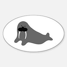 comic walrus icon Oval Decal