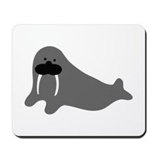 comic walrus icon Mousepad