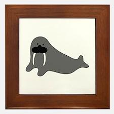 comic walrus icon Framed Tile