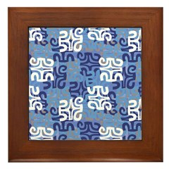 Swanky Mo Blues Framed Tile