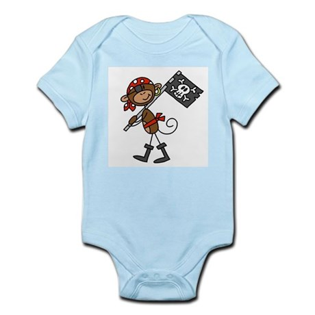 Pirate with Flag Infant Bodysuit