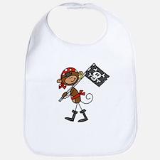 Pirate with Flag Bib