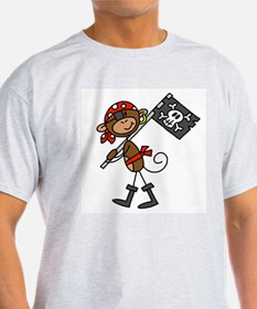 Pirate with Flag T-Shirt
