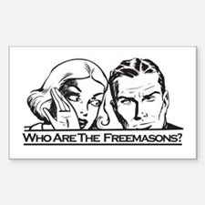Who Are The Freemasons Rectangle Decal