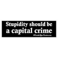 Death To Stupid Bumper Bumper Sticker