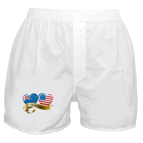 New Zealand/USA Flag_Our Family Boxer Shorts