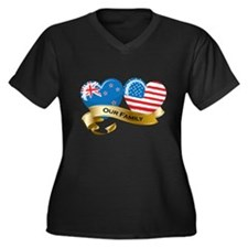 New Zealand/USA Flag_Our Family Women's Plus Size