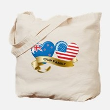 New Zealand/USA Flag_Our Family Tote Bag