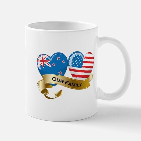 New Zealand/USA Flag_Our Family Mug