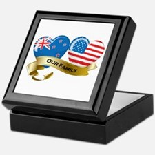 New Zealand/USA Flag_Our Family Keepsake Box
