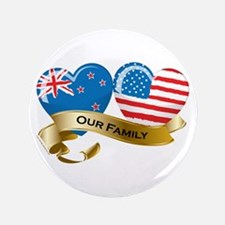 "New Zealand/USA Flag_Our Family 3.5"" Button"